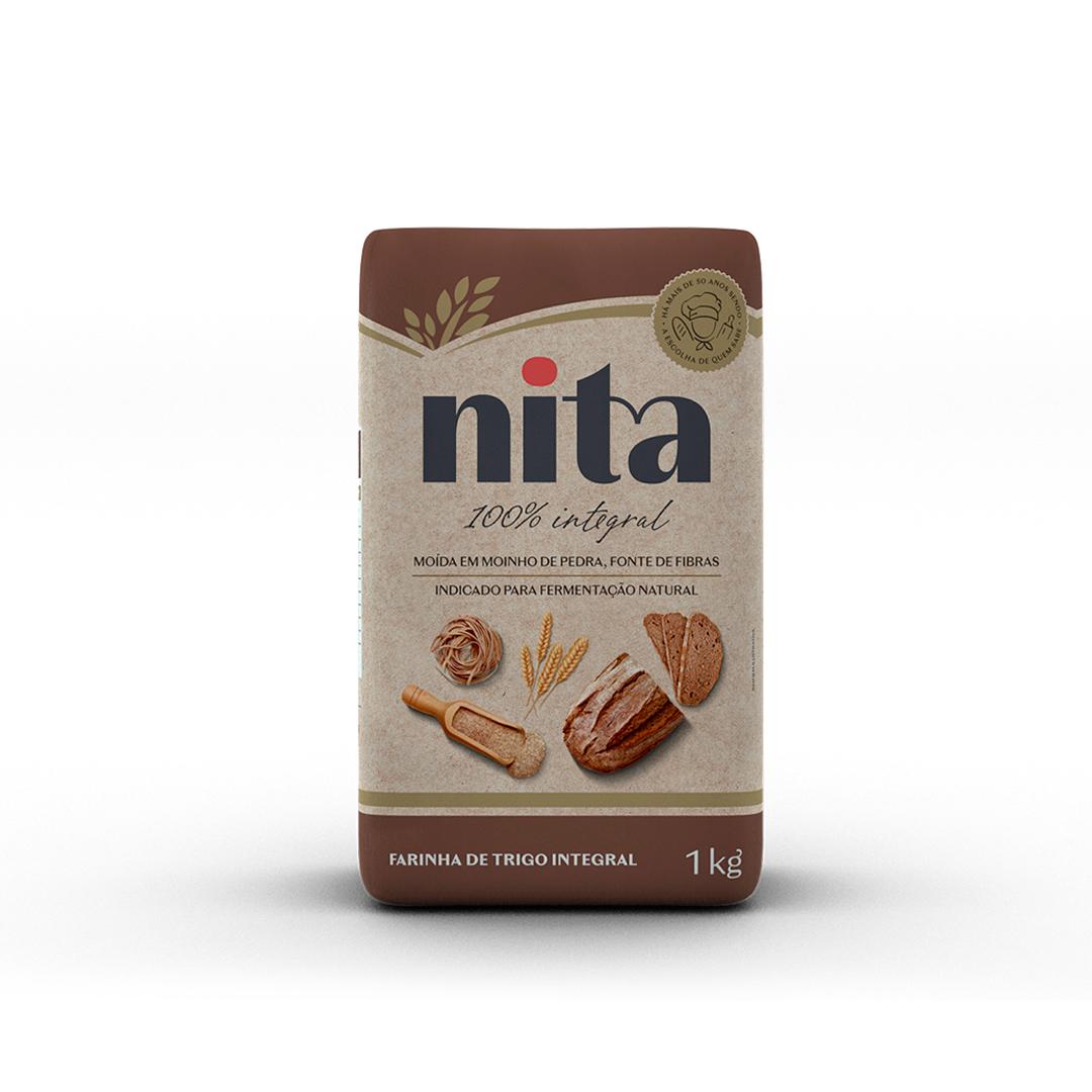 Farinha de Trigo Integral 1kg - Nita