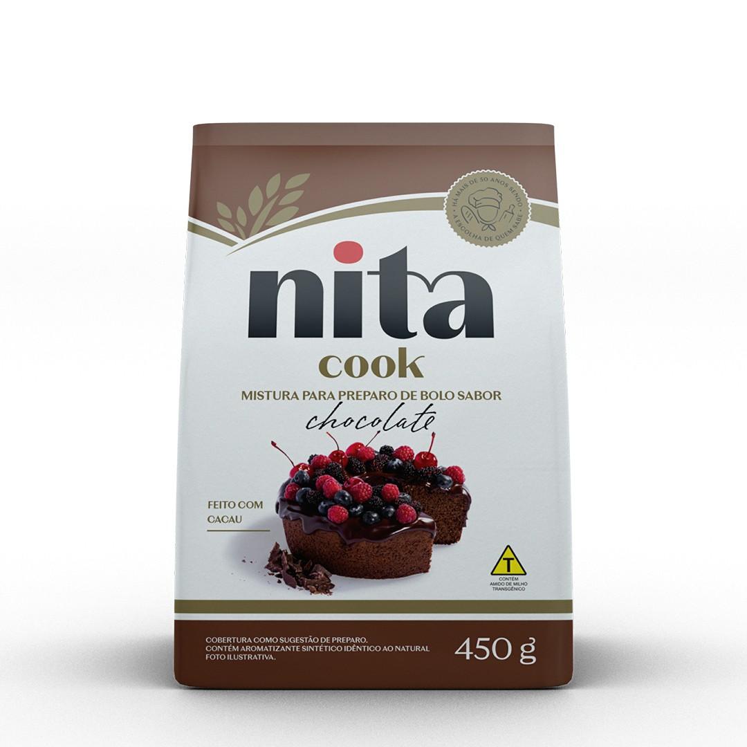 Mistura Pronta de Bolo Chocolate 450g - Nita