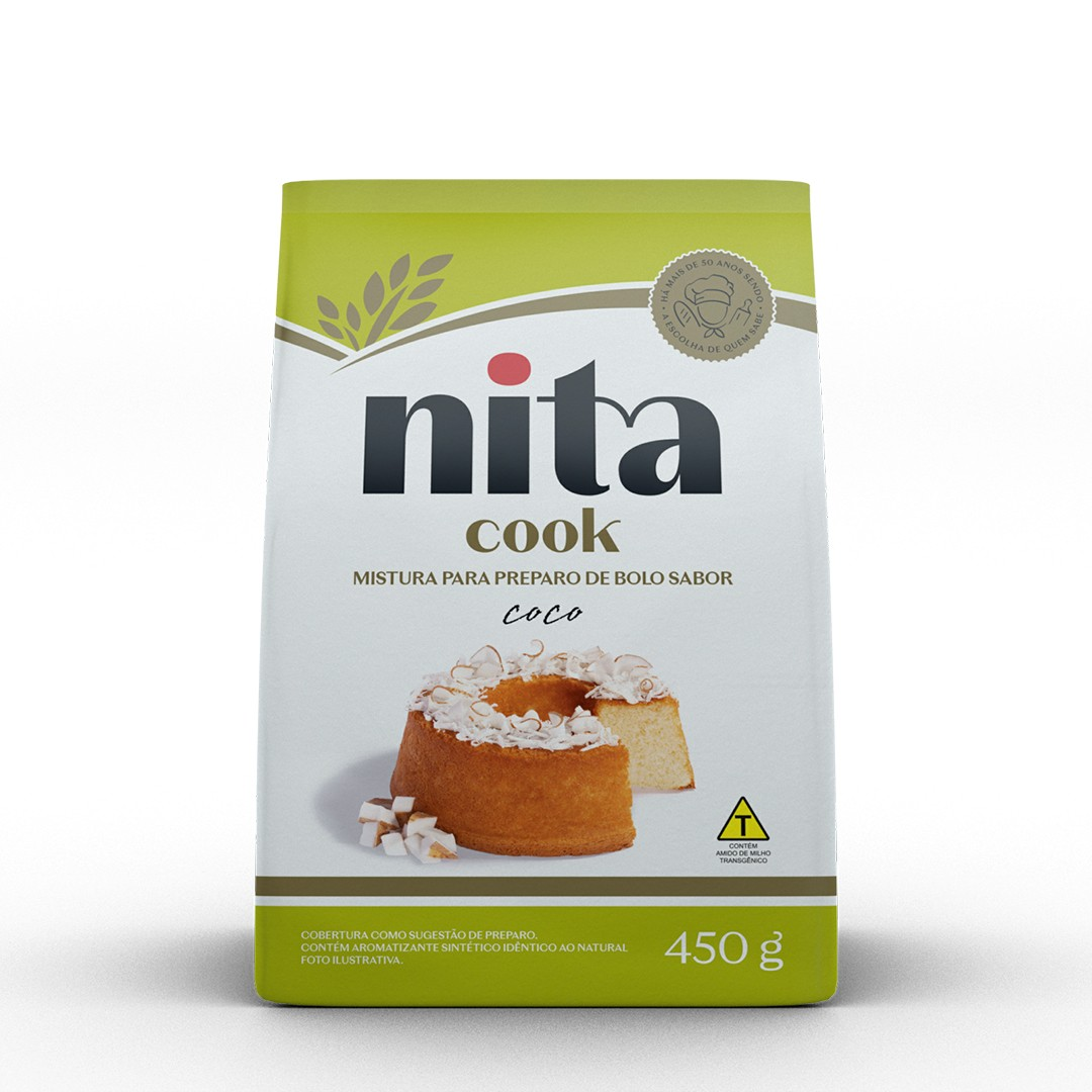 Mistura Pronta de Bolo Coco 450g - Nita